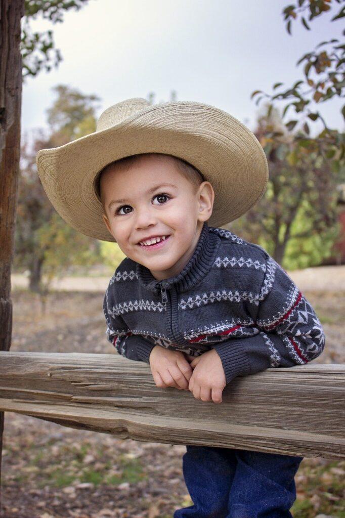 boy, cowboy, hat