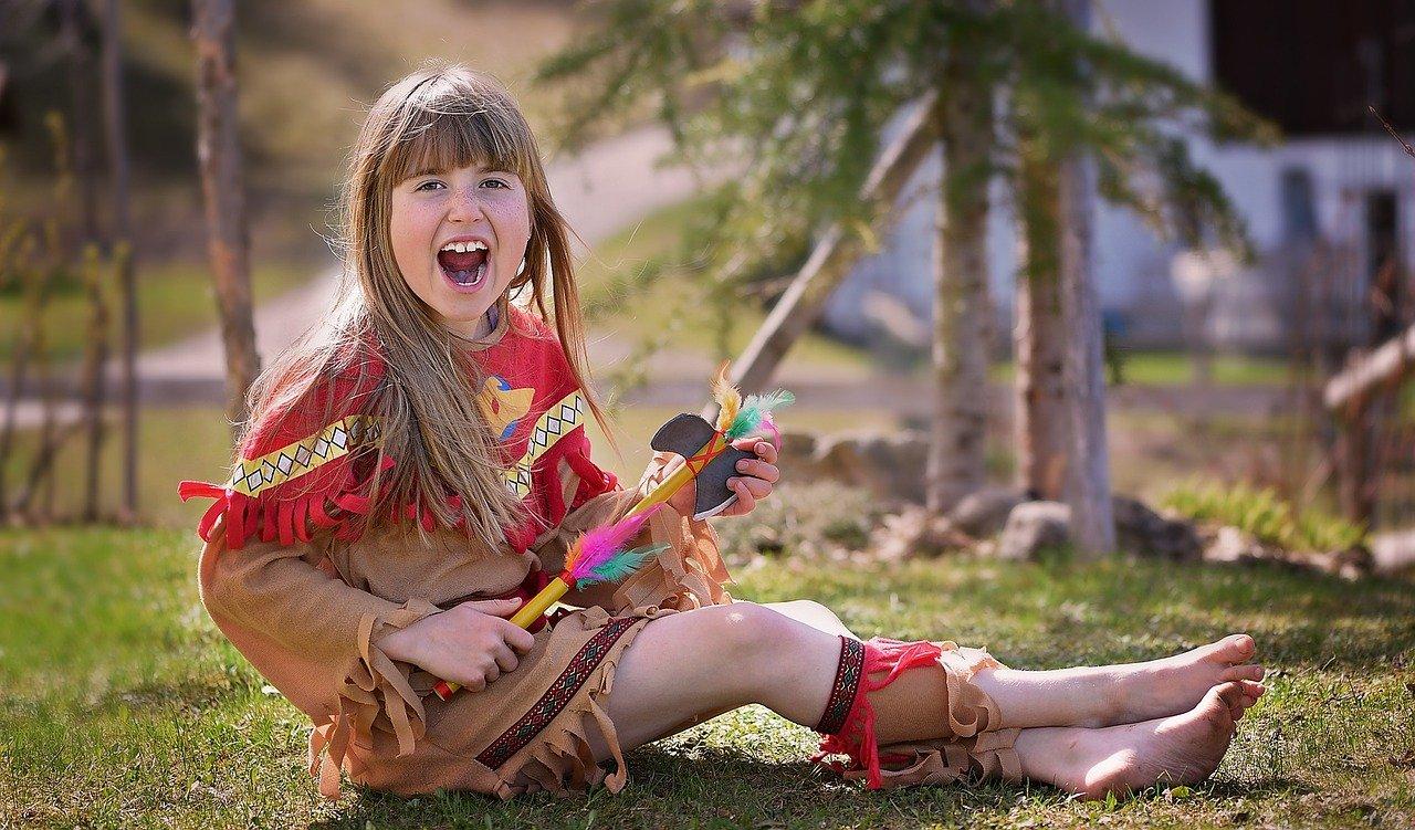 child, girl, indians