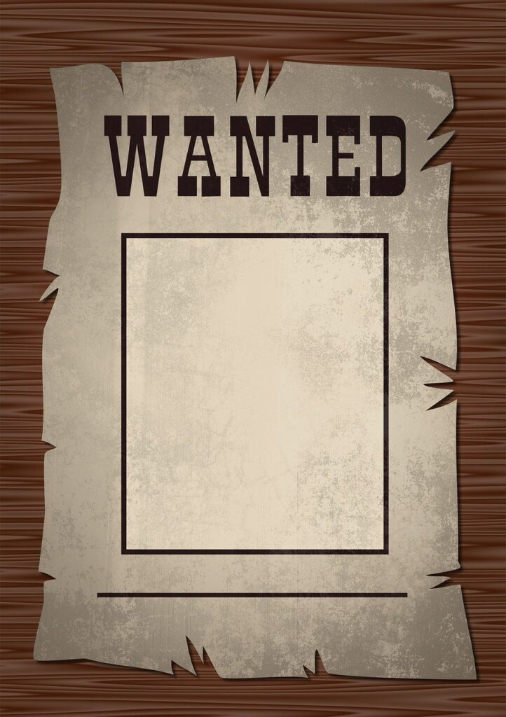 wanted, poster, wanted poster